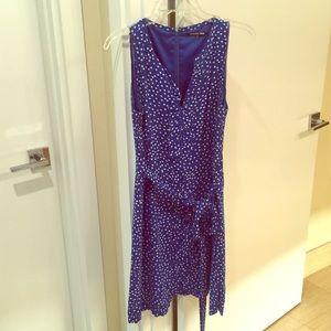 Gianni Bini blue polkadot dress size 8